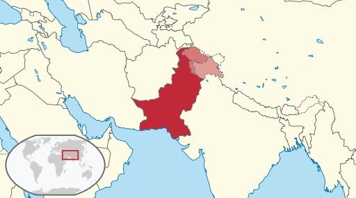 Pakistan_Landkarte